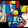 Мейк-ап моделей создан визажистом и бодипейнтером Анастасией Дурасовой