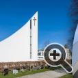 Христианская традиции вписана в современную архитектурную концепцию новой церкви Олгора