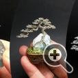 Деревья бонсай на натуральном камне