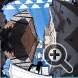 В работах художника Томаса Ламадье необычные пропорции между зданиями рождают причудливые образы