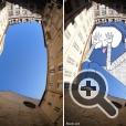 Художник Томас Ламадье показывает, что здания, загораживающие небо, можно рассматривать не как рамки восприятия окружающего мира, а как возможность выйти за эти рамки