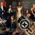 Звезды Голливуда на развороте Vanity Fair с лаком для ногтей Deborah Lippmann