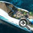 Балконы «люксов» на плавучем тропическом острове Paradise