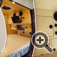 Размеры теардроп кампера предполагают размещение двух взрослых спальных места, небольшой кухни, места для хранения одежды и бытовых мелочей