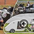 Супер-легкие теардроп кемперы могут следовать за мотоциклом