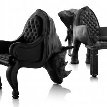 Домашний зоопарк: кожаная мебель в форме животных
